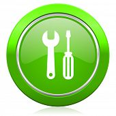 tools icon service sign