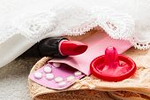 picture of condom  - Healthcare medicine contraception and birth control - JPG
