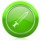 medicine icon syringe sign