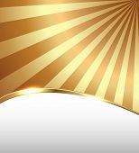 Abstract business background, golden lines, vector illustration.