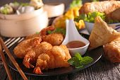 assortment of asian cuisine