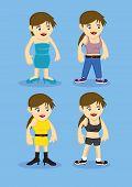 Women Fashion Cartoon Characters