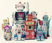 team of Robot toys