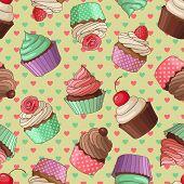 Cupcake pattern, yellow