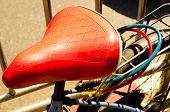 Beautiful vintage bicycle seat