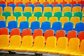 Empty Colorful Seats