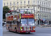 Tourist Sightseeing Bus In Riga