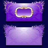 Vector royal invitation card with frame
