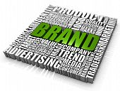 stock photo of business success  - Group of Brand related words - JPG