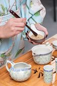 Getting ready for tea ceremony