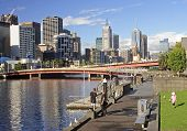 Melbourne, Australia - January 13, 2015: Yara River Runs Through