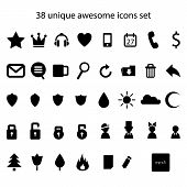 Vector unique abstract awesome icons set.