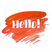 Hello - hand drawn lettering