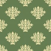 Foliate pattern with seamless baroque ornament