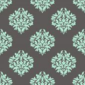 Seamless leaves composition in damask pattern