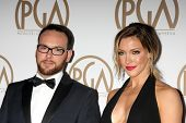 LOS ANGELES - JAN 24:  Dana Brunetti, Katie Cassidy at the Producers Guild of America Awards 2015 at a Century Plaza Hotel on January 24, 2015 in Century City, CA