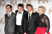 LOS ANGELES - JAN 24: Ellar Coltrane, Ethan Hawke, Richard Linklater, Cathleen Sutherland at the Producers Guild of America Awards 2015 at a Century Plaza Hotel on January 24, 2015 in Century City, CA