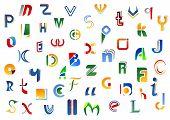 Alphabet letters and symbols