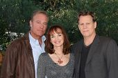 LOS ANGELES - JAN 23:  John James, Pamela Sue Martin, Al Corley at the Home and Family Show taping at a Universal Lot on January 23, 2015 in Universal City, CA