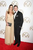 LOS ANGELES - JAN 24:  Charlie Webster, Allen Leech at the Producers Guild of America Awards 2015 at a Century Plaza Hotel on January 24, 2015 in Century City, CA