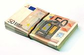 Fifty Euro Banknotes Stack