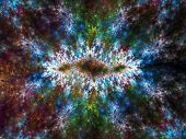 Abstract Artistic Fractal Background