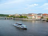 View Of Vltava From Charles Bridge