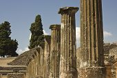 View Of The Ancient Roman Ruins of Pompei