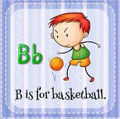 stock photo of letter b  - Illustration of a letter B is for basketball - JPG
