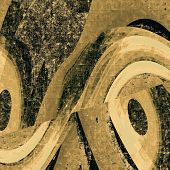 Old ancient texture, may be used as abstract grunge background. With different color patterns: yellow (beige); brown; gray; black