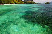 island with perfect lagoon