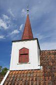 Undredal Stave church exterior detail Undredal Norway.