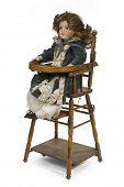 Childs Ceramic Life Sized Dressed Doll Original