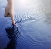 Finger And Water