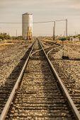 Train Tracks Leading To The Horizon