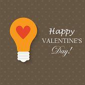 Light Bulb With Love Heart