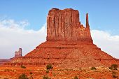 Magical landscape Monument Valley in Arizona. Magnificent cliffs -