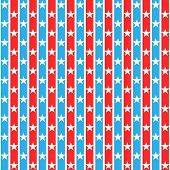 Stars Striped Seamless Pattern.