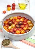 Multicolored Cherry Tomatoes, Provencal Herbs, Olive Oil For Roasting