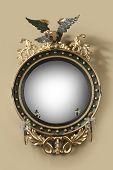 Antique Round Hall Mirror