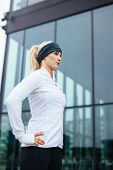 Attractive Young Woman Ready For Her Running Session
