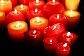 Burning candles close-up