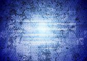 Blue tech grunge background. Vector design