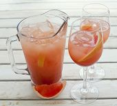 Grapefruit lemonade pitcher