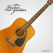 Acoustic guitar bright background.