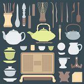 solid colors tea ceremony equipment set