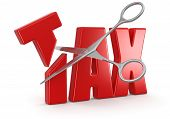 TAX and Scissors (clipping path included)