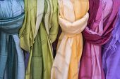 Silk And Cotton Scarves