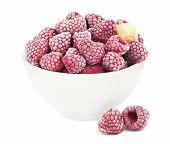 Frozen raspberries