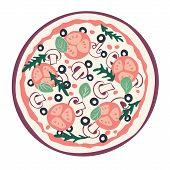 Stylized pizza